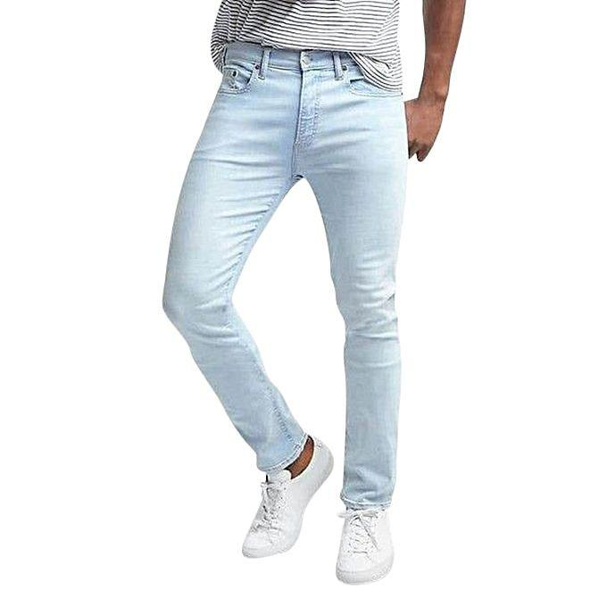 Light Blue Denim Jeans For Men