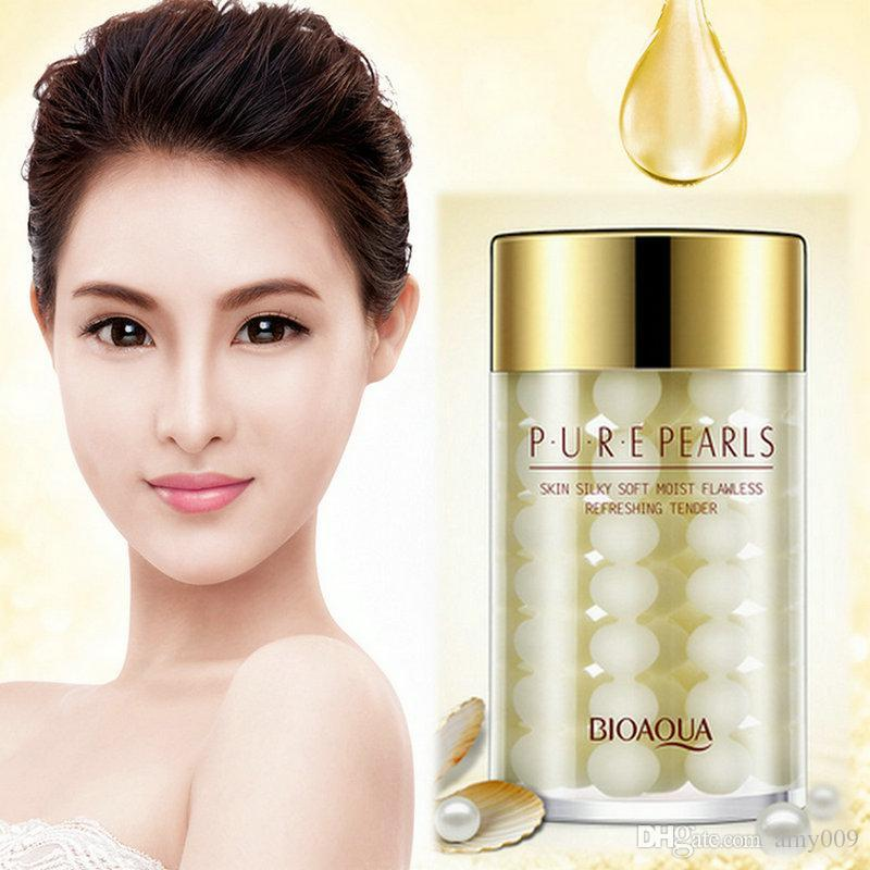 BIOAQUA Pure Pearl Essence Face Cream night Mask Deep Moisturizing Whitening Skin Care Anti Wrinkle 60g